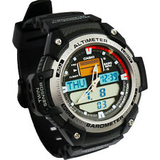 Casio Mens Twin Sensor Multi-Function Analog Digital Watch Black - SGW400H-1B