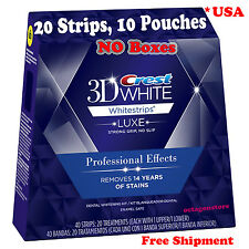 20 Strips, 10 Pouches Crest 3D Whitestrips Professional Effects Teeth Whitening