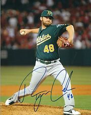 Signed 8x10 RYAN COOK Oakland A's Autographed photo- COA