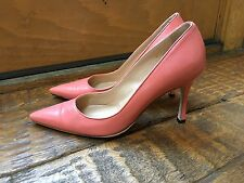 Manolo Blahnik Pink Leather BB Point Toe Pump Size 36.5