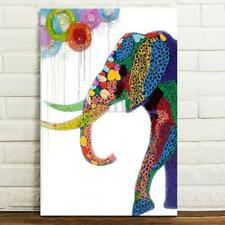 Cartoon Elephant Canvas Print Art Oil Painting Picture Home Wall Decor Unframed