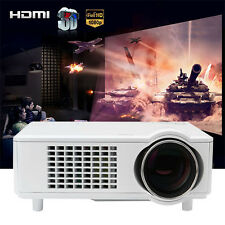 White 4000 Lumens FULL HD 1080P Home Cinema Theater LED LCD 3D Projector HDMI US