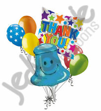 7 pc Push Pin Thank You Themed Balloon Bouquet Appreciation Teacher Boss Assist