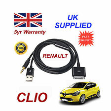 Renault Clio Sistema De Audio iPhone 3GS 4 4S iPod USB & 3.5mm Aux Cable negro