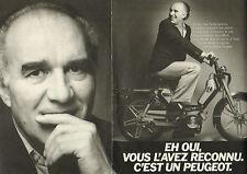 Publicité Advertising 1981 (Double page)  PEUGEOT 105 michel piccoli