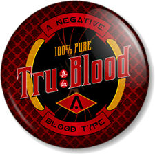 "True Blood Type A Negative Tru 1"" Pin Button Badge Vampires TV Show Synthetic"