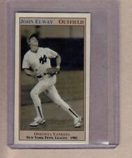 John Elway, outfielder, 1982 Oneonta Yankees minor league, later a football star