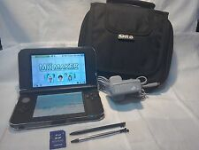 NINTENDO 3DS XL BLACK £99 PLUS ACCESSORIES