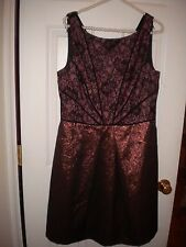Lovely by Adriana Papell black & rose special occasion sleeveless dress NWT 12