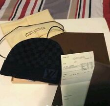 NEW Authentic Louis Vuitton Damier Black Gray Wool Beanie Hat NewTags Box / Bag