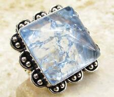 925 Sterling Silver Overlay RING Jewelry | SNAKESKIN QUARTZ size 8.75 L28-120