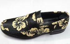 UNIQUE NEW GIANNI BARBATO GENUINE STINGRAY SKIN LEATHER FLOWER LOAFER 41 8 ITALY