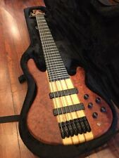Wolf 7 String Bass Neck-Thru SE Quilted Bubinga 1/4 w/ SKB Universal Case