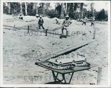 1958 Scale Model of University At Construction Site Vientiane Laos Press Photo