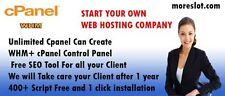 WHM Reseller Hosting - FOR ONE YEAR *Create UNLIMITED cPanel* Ultra Fast SSD