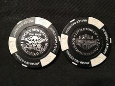 "Harley Davidson Poker Chip  (Black & White) ""Rocky Mountain H-D"" Littleton CO."