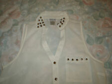 Dizzy Lizzy ladies sheer ivory dress blouse size small