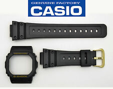 Casio G-Shock Genuine 16mm  Watch Band & Bezel  Black DW-5600EG DW5600EG