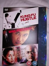 HUSTLE UNLEASHED CROUCHING TIGER HIDDEN DRAGON  DVD 3 DISC JET LI