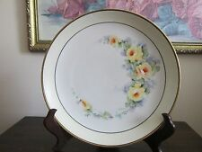 "Vintage KPM Germany Hand Painted Plate Yellow Roses 8.5"" Signed"
