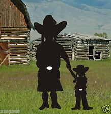 COWBOY COWGIRL & DAUGHTER SILHOUETTE yard art pattern,plans woodworking pattern
