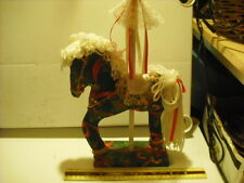 Hand Crafted Sewn Christmas Carousel Horse Decoration
