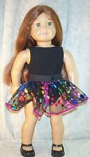 """Doll Clothes Ice Skate Black Bodysuit Dots Skirt fit 18"""" inch American Girl NEW"""