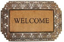 Outdoor Welcome Mat, Made From Coir and Rubber, Heavy Duty, Strong Rubber 22x34