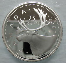 2007 CANADA 25 CENTS PROOF SILVER QUARTER COIN - A