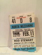 Rod Stewart Concert Ticket Stub 2-11-1982 Toronto Maple Leaf Gardens - Rare