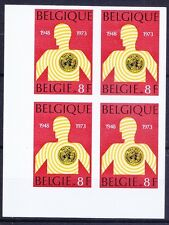 Imperf 1v Blk, 25 years W.H.O., Belgium 1973 MNH Blk -Me25