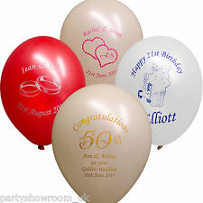 25 Birthday Anniversary Wedding Party Personalised Printed Latex Balloons PS