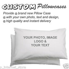 Personalized custom Printed Pillowcase - print your PHOTO and TEXT 100% cotton