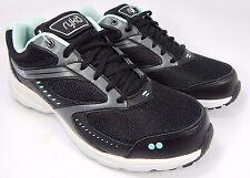 Ryka Circuit Women's Running Shoes Size US 8 M (B) EU 39 Black Aqua Blue