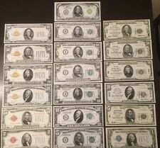 Replica Copy Set 1928/1929 United States Currency Historical Educational 19 Diff