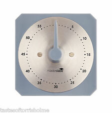Kitchen Craft Grey Clock Face Magnetic Dial Countdown Clockwork 60 Minute Timer