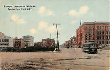 c.1910 Trolley Prospect Ave. & 149th St. Bronx NY post card