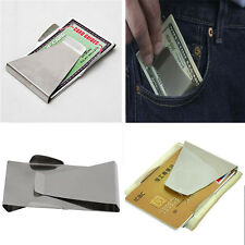 Easy To Carry Double Sided Cash Slim Money Clip Credit Wallet Stainless Steel