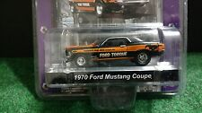 Greenlight 1970 Ford Mustang Coupe 1:64 Diecast Muscle Car Garage Black Torque
