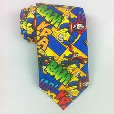 SUPERMAN DC Comics Theme Necktie Handsewn New tie Cotton Mens NEW Clark Kent
