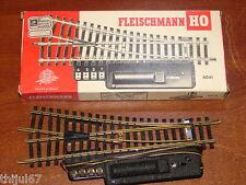 FLEISCHMANN ( 6041 ) AIGUILLAGE ELECTRIQUE A DROITE RAILS EN LAITON EN BOITE HO