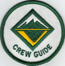 "Venture Scout Crew Guide Position Patch, Green Brd, ""Scout Stuff"" Back, Mint!"