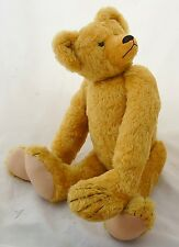 """Artist Teddy Bear Gold Mohair Fully Jointed Sue Kruse 24"""" Antique Style"""