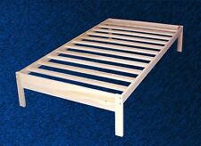 NEW WOOD PLATFORM BED FRAME -Twin Size -Solid Hardwood!