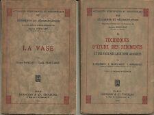Vase, Sédiments, Sédimentation, Eaux associées, Techniques d'études Boucart 1942