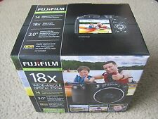 New Fujifilm FinePix S2980 14MP Digital Camera Black Bundle w/ Case & 4GB SDHC