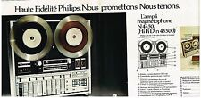 Publicité Advertising 1973 (2 pages) Hi-Fi Ampli magnetophone N 4550 Philips