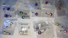 Joblot of 18 Surgical Steal  Shamballa Belly Bars - NEW Wholesale lot 2