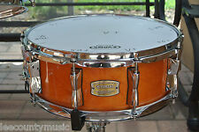 "ADD this YAMAHA 14"" STAGE CUSTOM HONEY AMBER SNARE DRUM to YOUR DRUM SET! #T682"