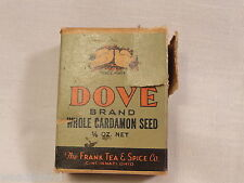 Advertising Vintage Box Dove Brand Whole Cardamon Seed The Frank Tea & Spice Co